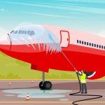 se lavan los aviones