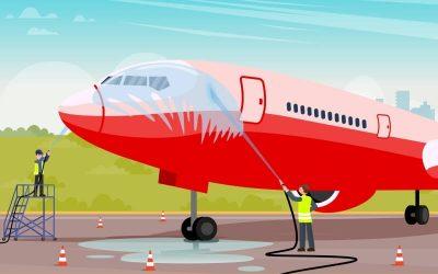 ¿Se lavan los aviones?